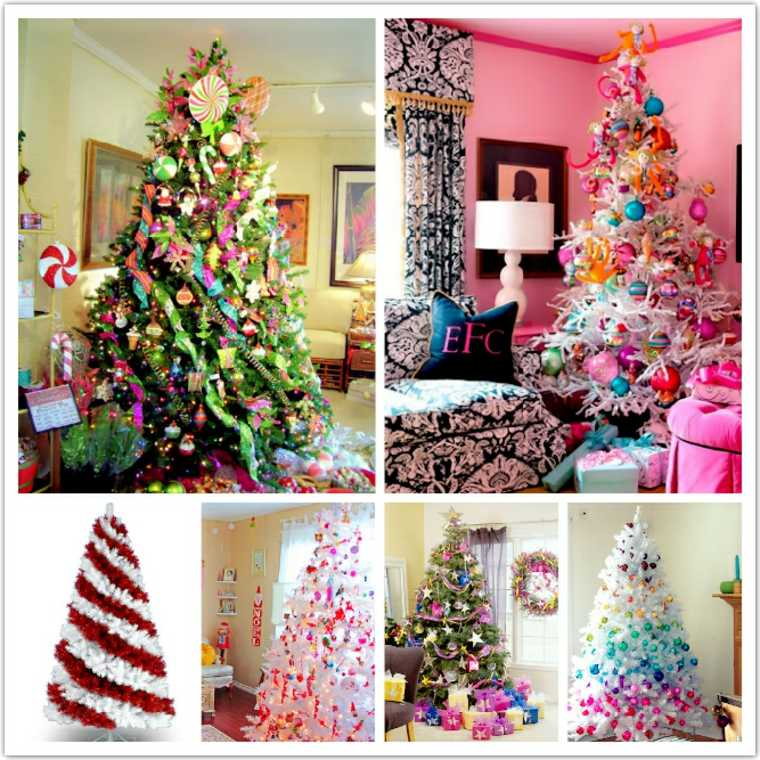 árboles de Navidad decorados