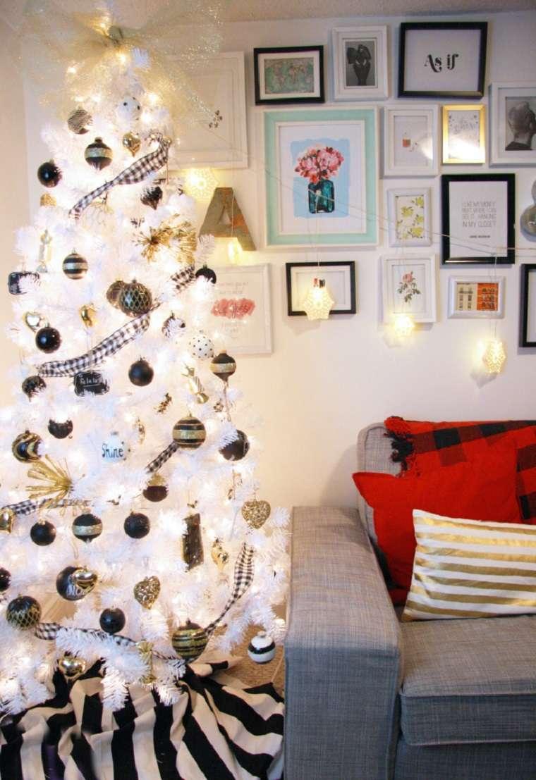 sencillas ideas de decoración para el árbol de Navidad