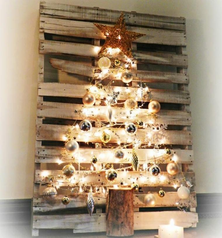 arbol de navidad casero de-paleta