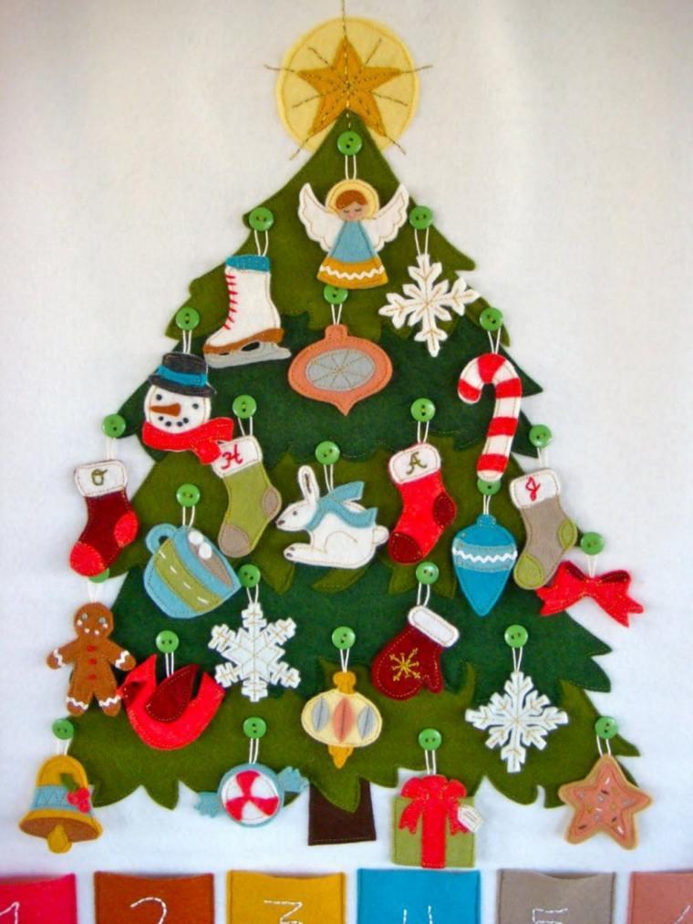 Rbol de navidad casero conoce estas ideas originales - Arbol de navidad de tela ...