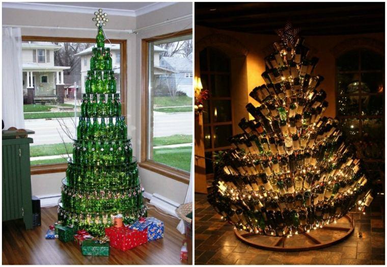 arbol-de navidad-de-botellas