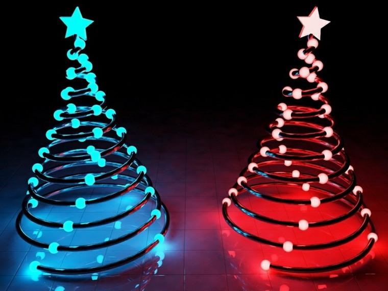 Rbol de navidad casero conoce estas ideas originales - Arbol de navidad hecho de luces ...