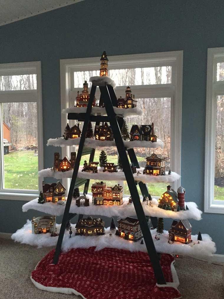 C mo hacer adornos de navidad 40 ideas para aprovechar - Escaleras decoradas en navidad ...