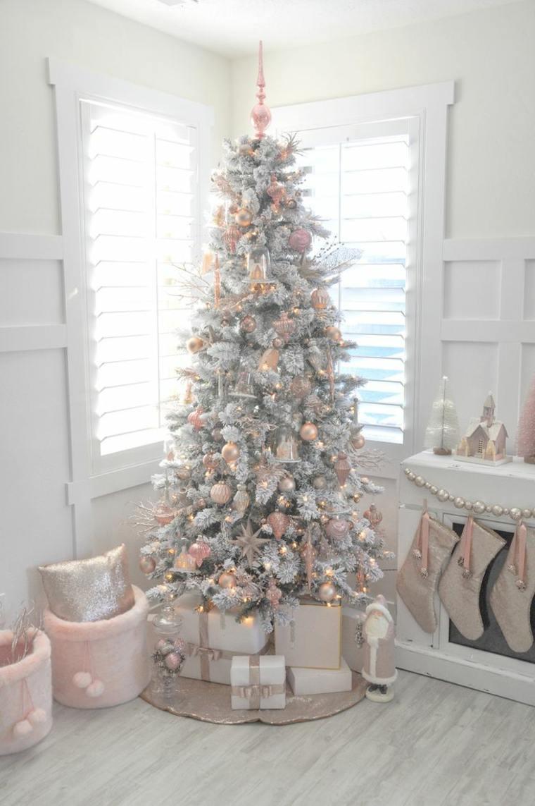 C mo adornar un rbol de navidad de manera creativa y - Arboles de navidad rosa ...