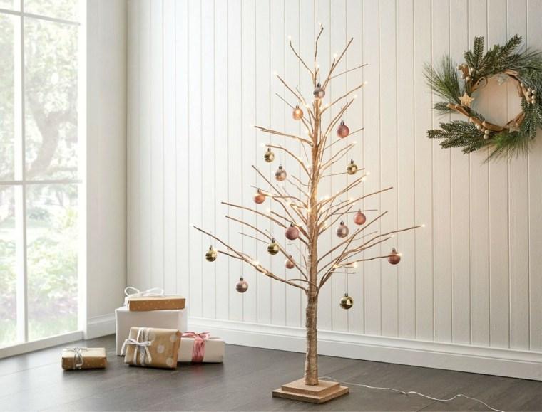 C mo adornar un rbol de navidad de manera creativa y diferente - Como decorar un arbol seco ...