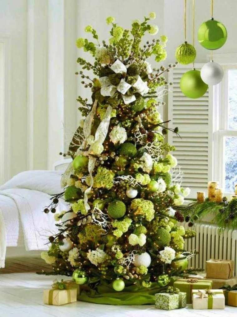 adornos de Navidad verde