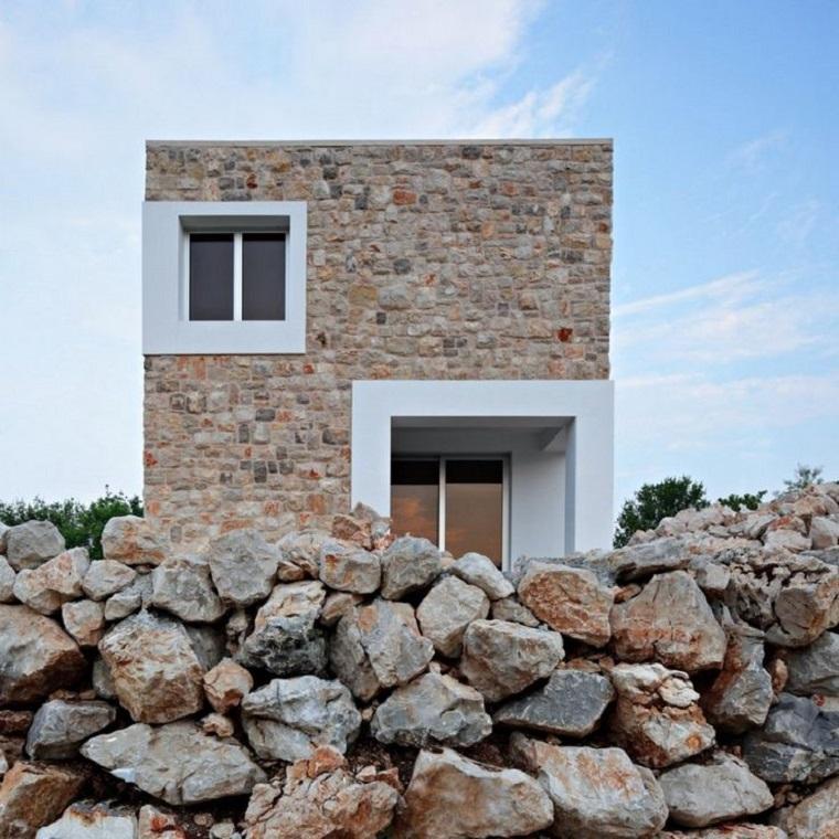 estupendo diseño de fachada de piedra