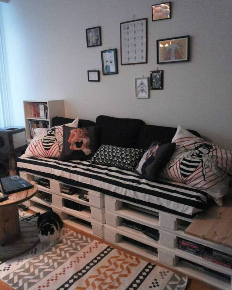 hacer sofás con palets