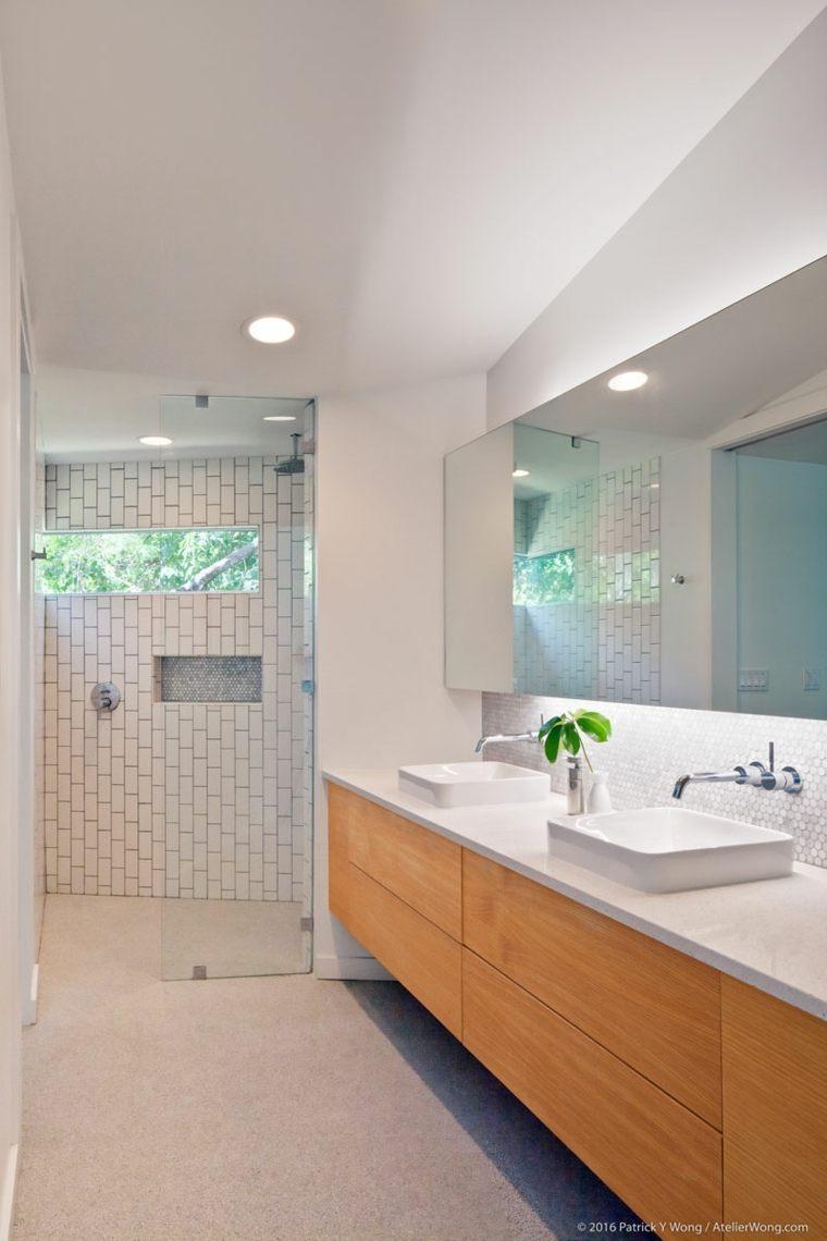 baño blanco madera especial