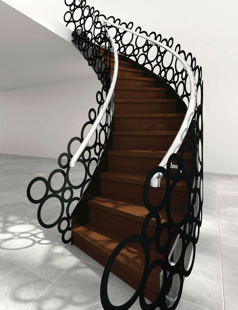 estupendos diseños de balaustradas modernas para interiores