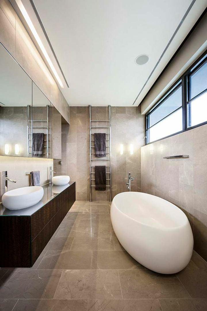 bello baño moderno tonalidades