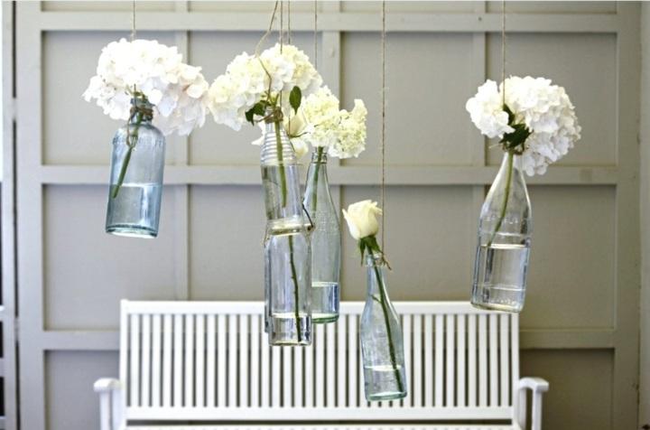 botellas recicladas flores banco
