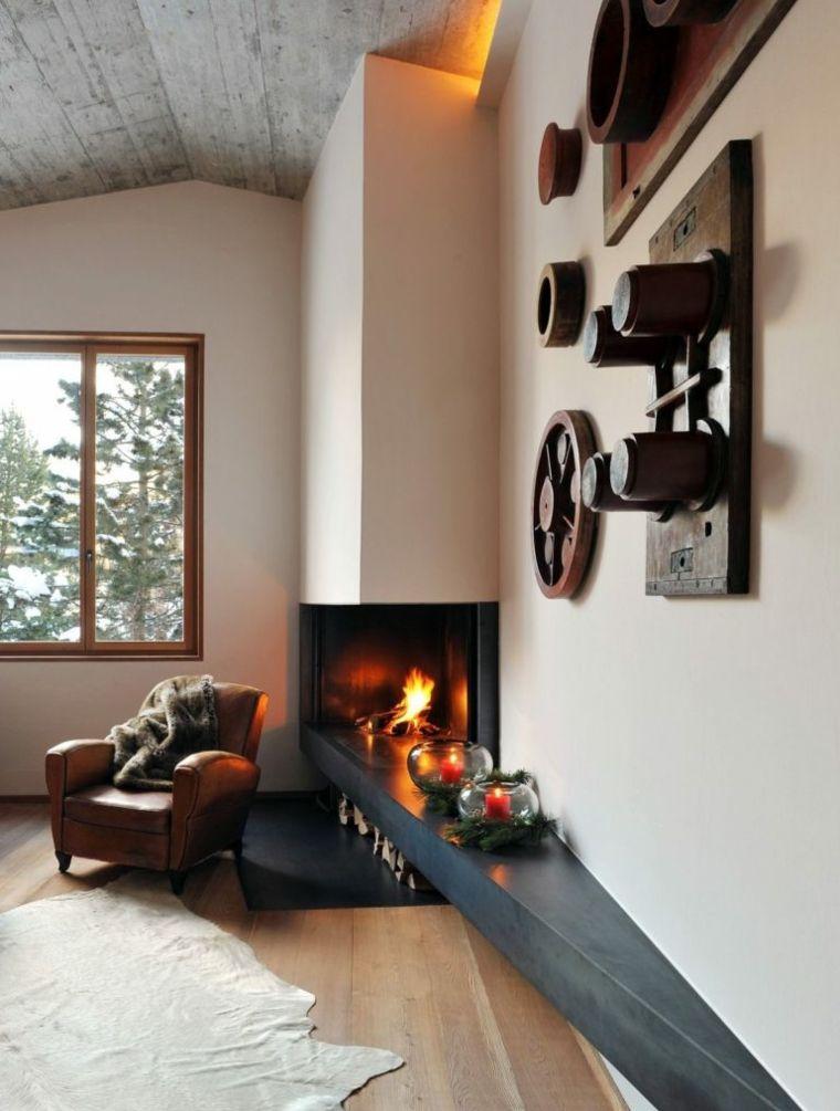 casa de lujo con chimenea