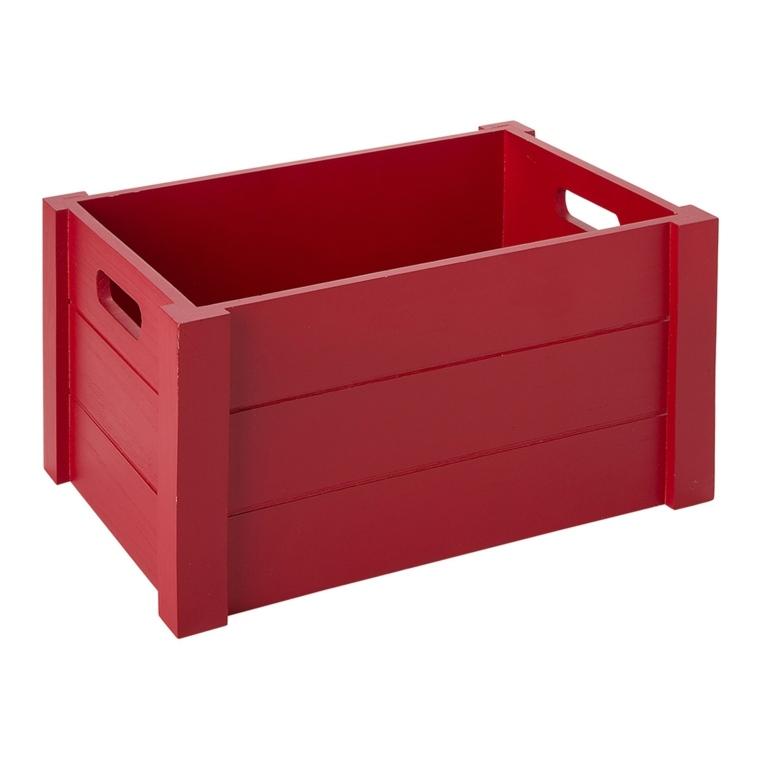 caja madera roja maciza