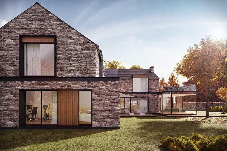 Casas de piedra pros y contras de las casas con fachadas for Fachada de casas modernas con piedras