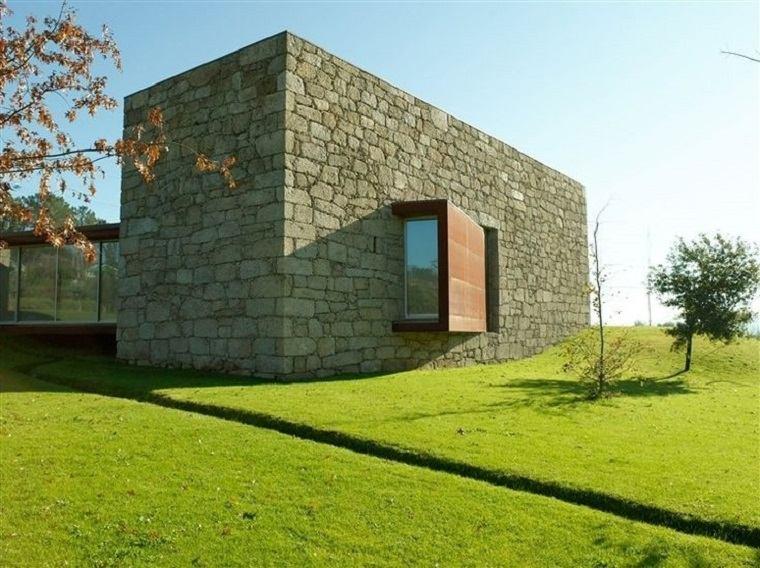 fachadas de piedra de estilo minimalista