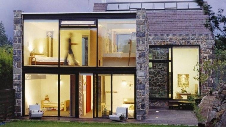 casas de piedra de estilo minimalista