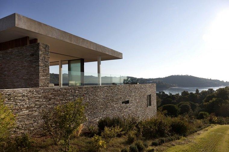 casas de piedra de estilo moderno