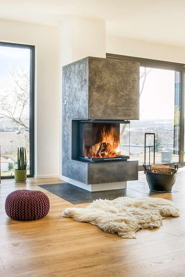 Dormitorios con chimeneas modernas 30 ideas originales - Chimeneas diseno ...
