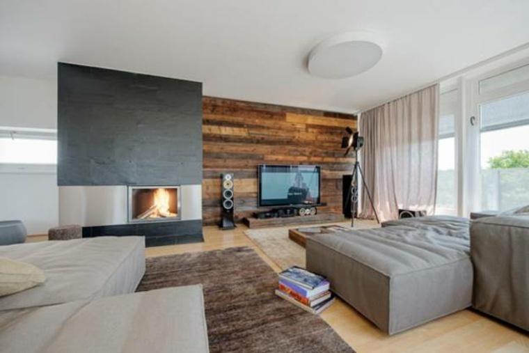interiores con chimeneas modernas