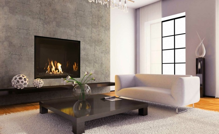 salones modernos con chimenea - Chimenea Moderna