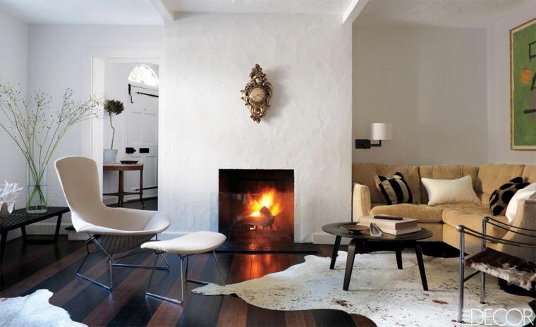 salas y salones con chimeneas modernas