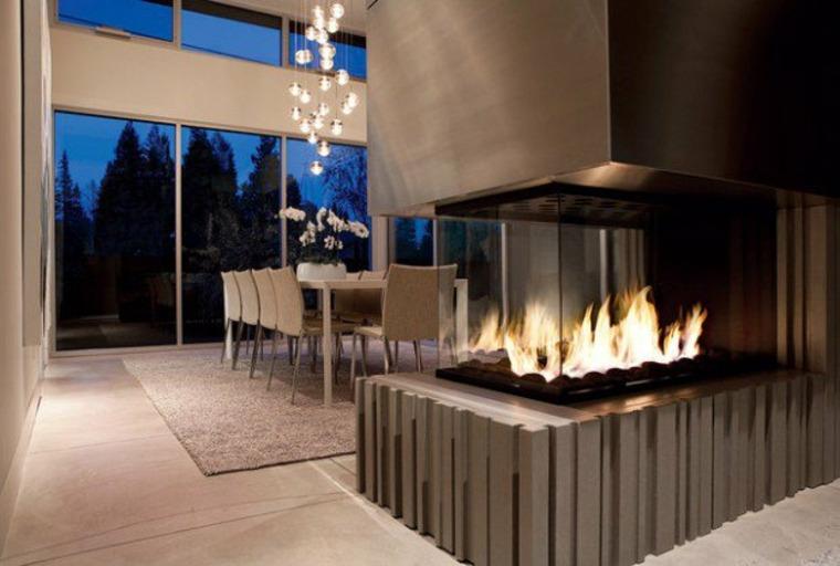 salas de estar y salones con chimenea moderna