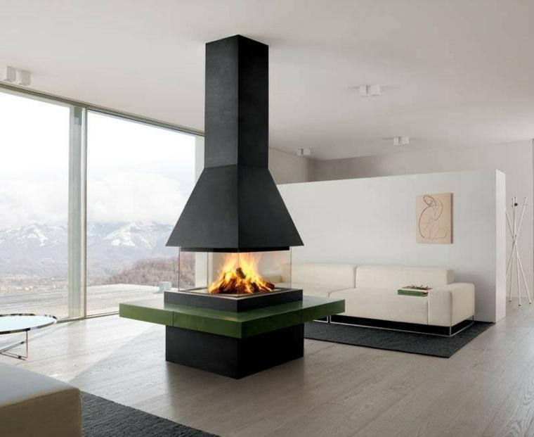 salas de estar y salones con chimeneas modernas