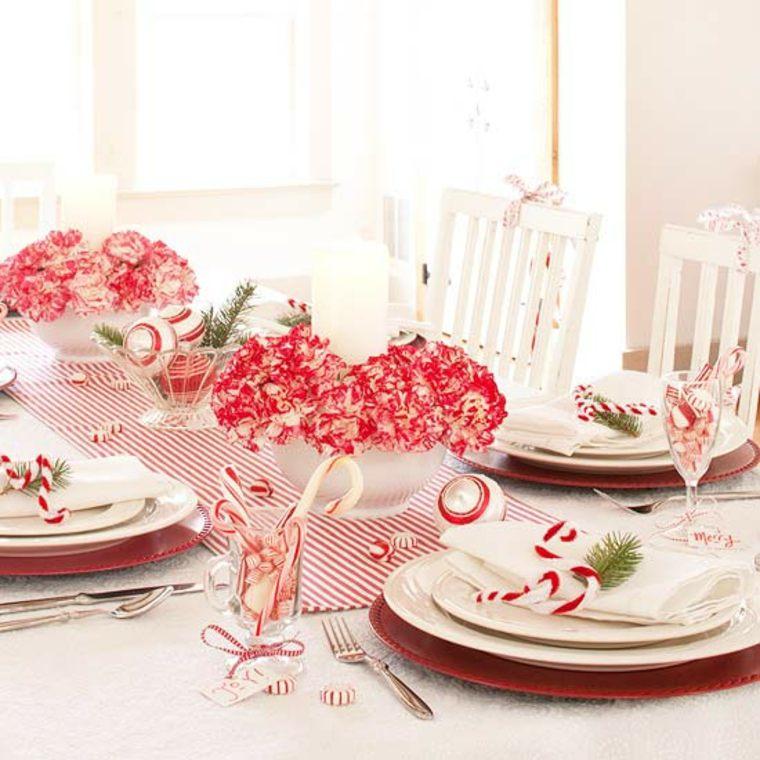 centro de mesa con claveles