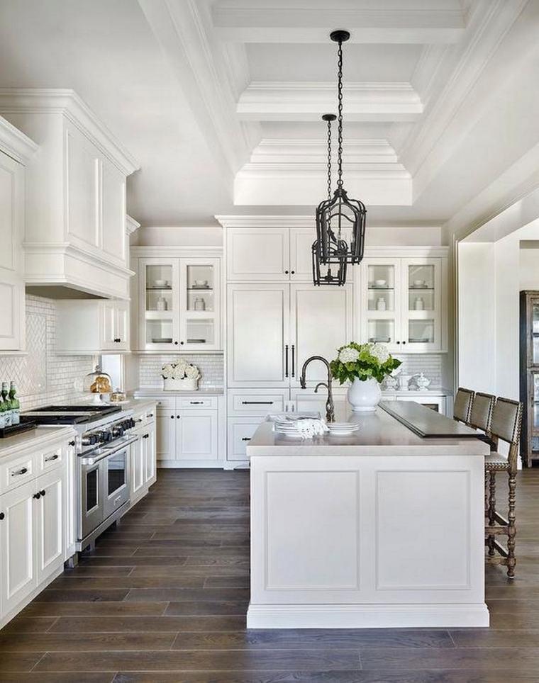 cocina americana-isla-blanca-opciones-originales