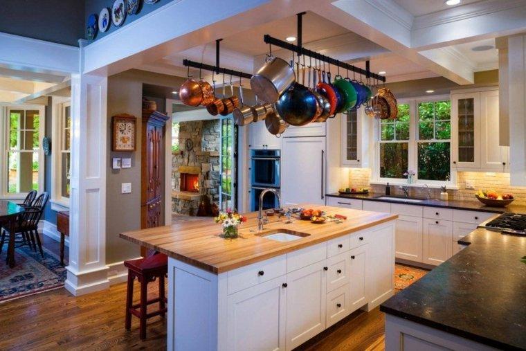 cocina-americana-isla-estilo-clasico