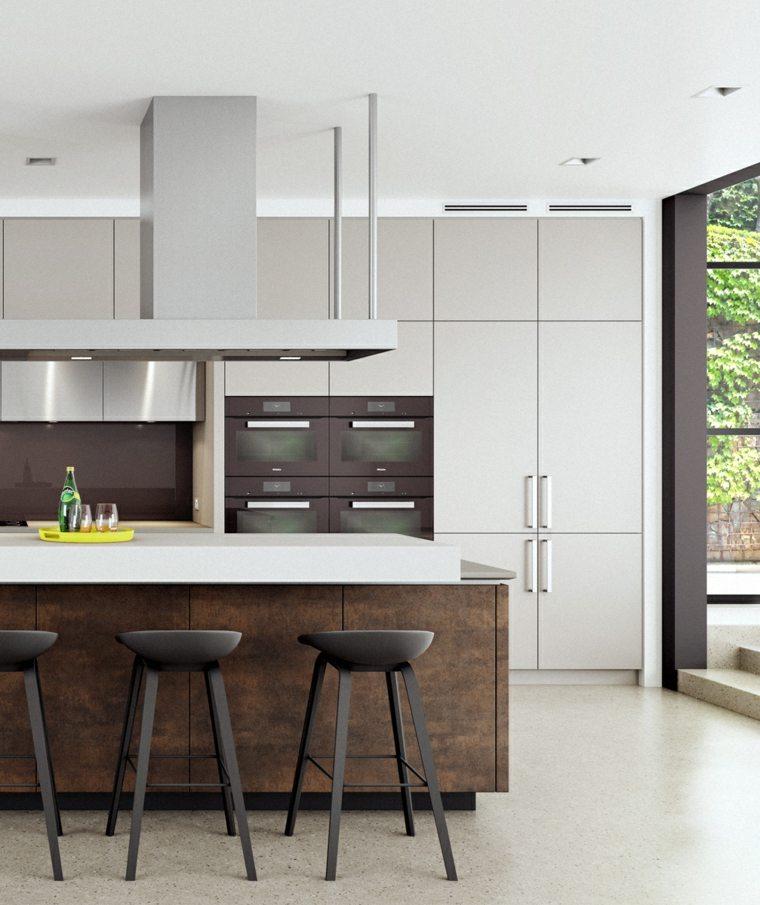 cocina-americana-isla-muebles-estilo-contemporaneo