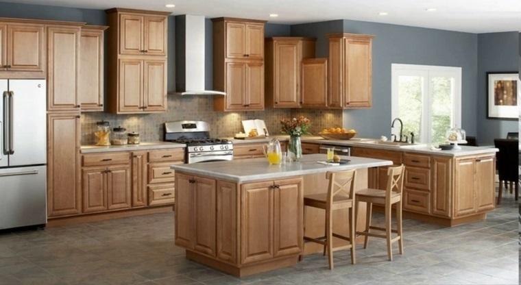cocina-americana-isla-muebles-madera