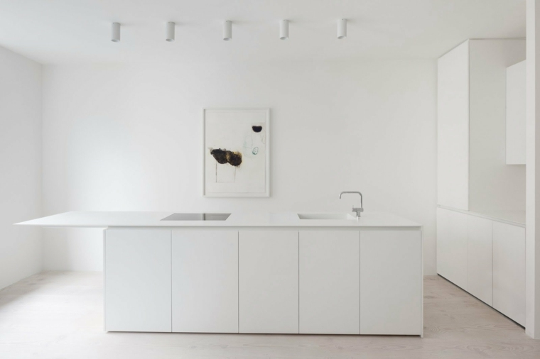 decoración minimalista cocina-blanca-diseno-minimalista-estilo-puro-blanco