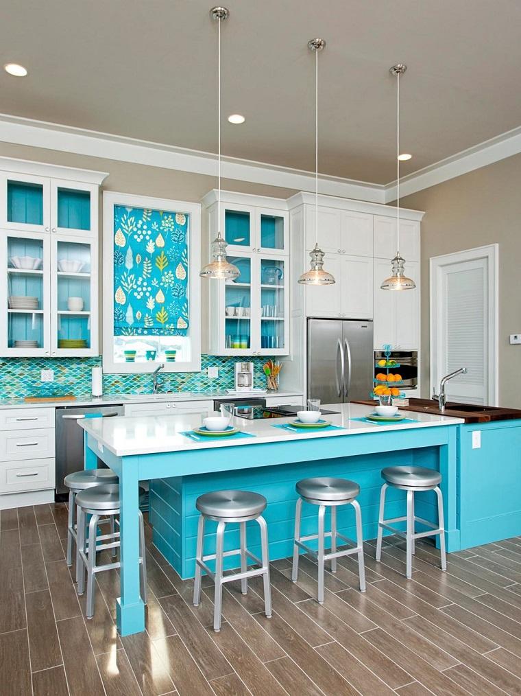 cocina-colores-atrevidos-estilo-americano