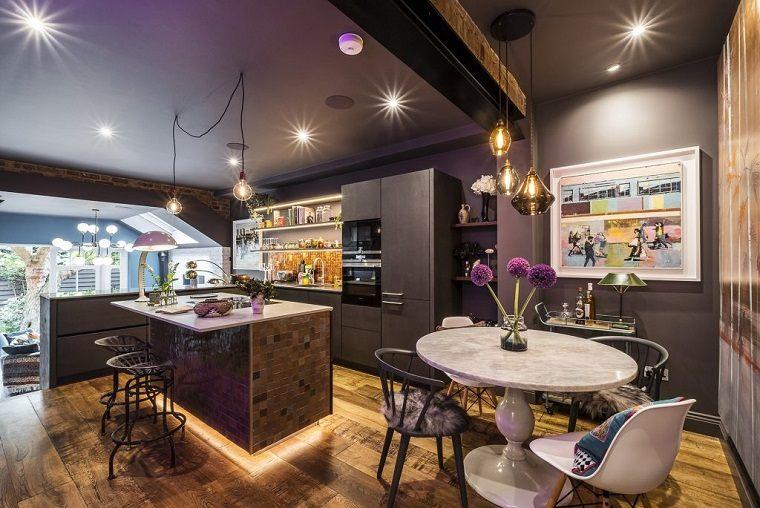 cocina detallada elegante luces