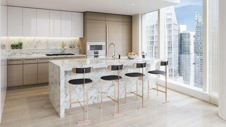 cocina-diseno-moderno-elegante-Richard-Meier