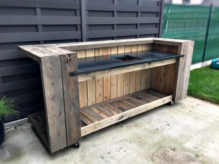 cocina exteriores palets reciclados