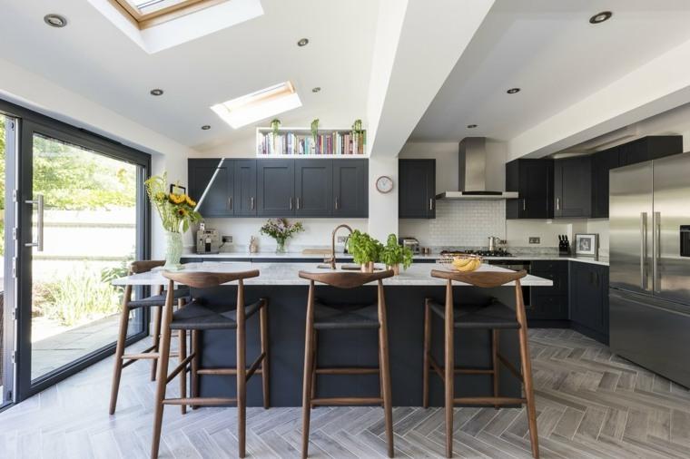 cocina-moderno-cocina-Design-Squared-Ltd
