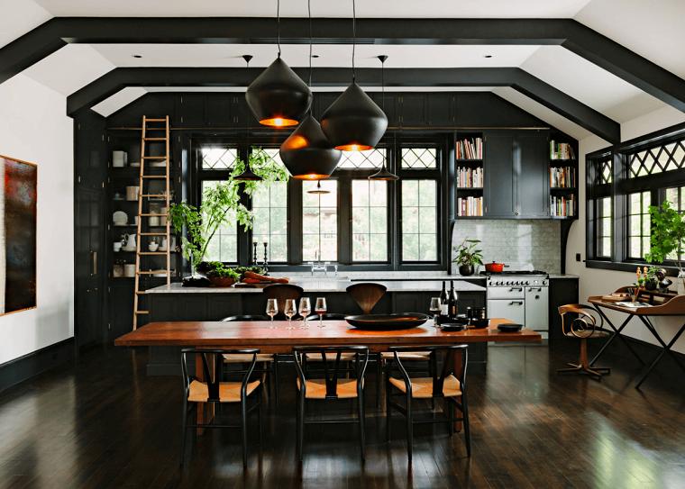 cocina-muebles-color-negros-estilo-moderno