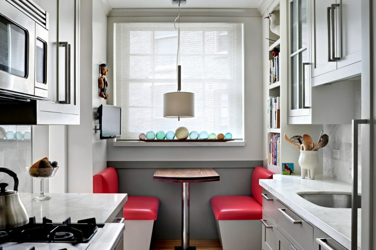 Cocinas alargadas ideas para aprovechar su espacios Disenos de cocina comedor pequeno