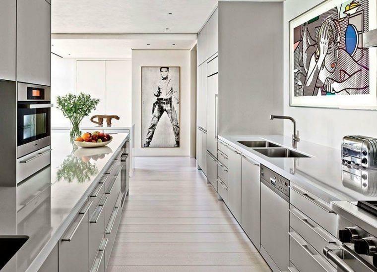Cocinas alargadas - Ideas para aprovechar su espacios pequeños -