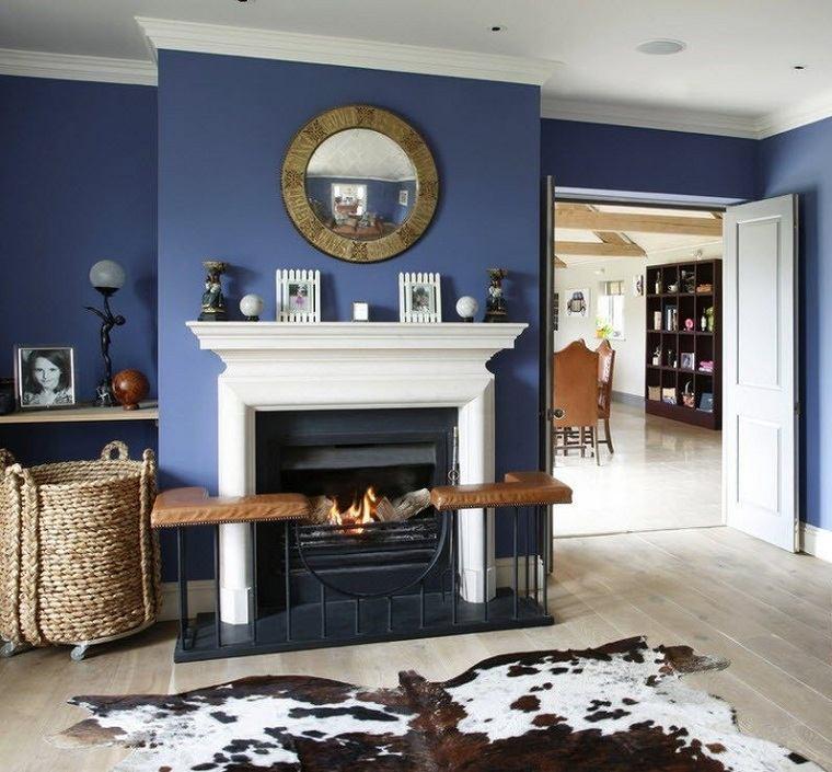 color-azul-sala-estar-chimene-diseno
