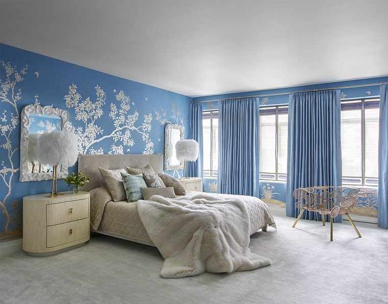 colores de moda-opcion-dormitorio-decoracion-arbol-blanco