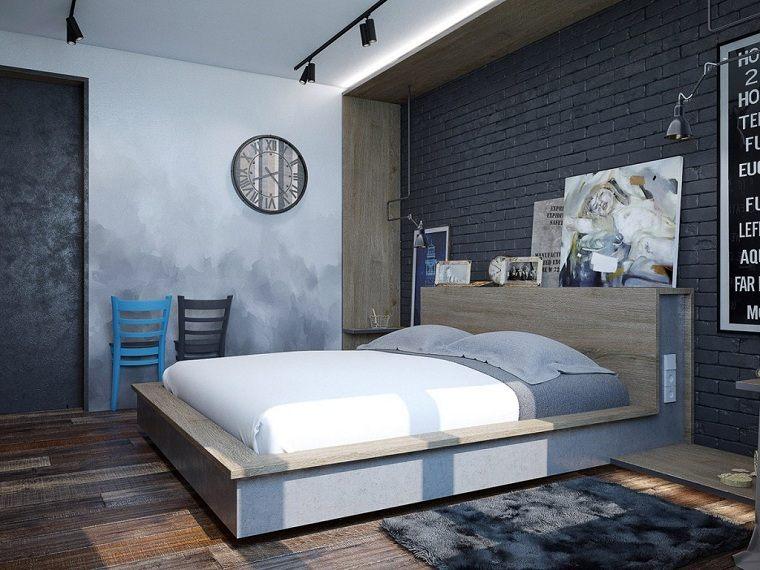 colores-de-moda-opcion-dormitorio-gris-pared-ladrillo