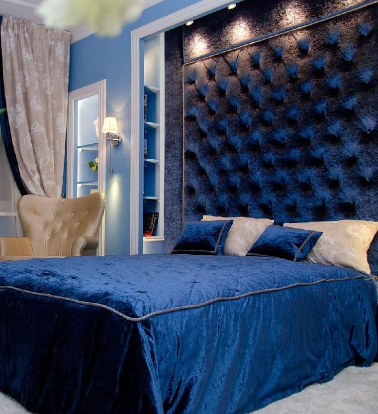 colores de moda-opcion-dormitorio-pared-terciopelo-azul