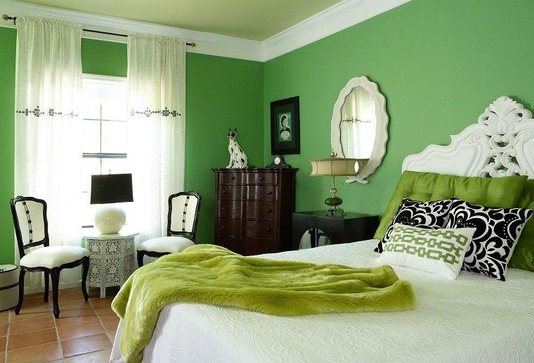 colores-de-moda-opcion-dormitorio-verde-cama-diseno