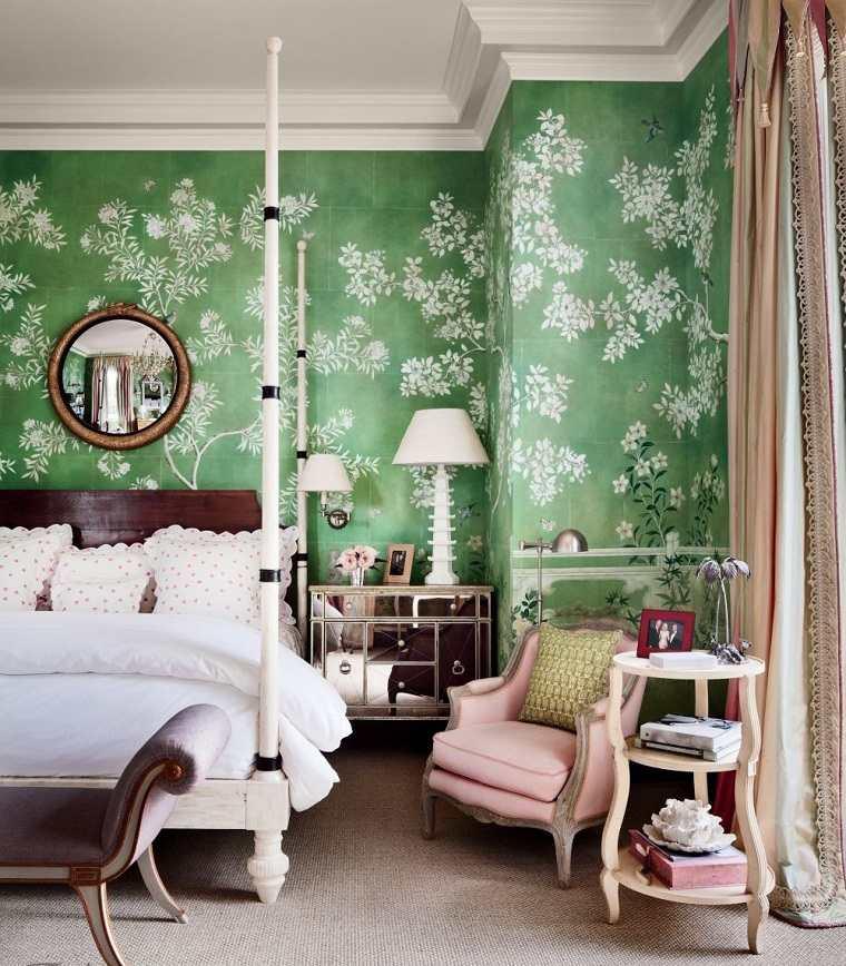 colores-de-moda-opcion-dormitorio-verde-papel-pared