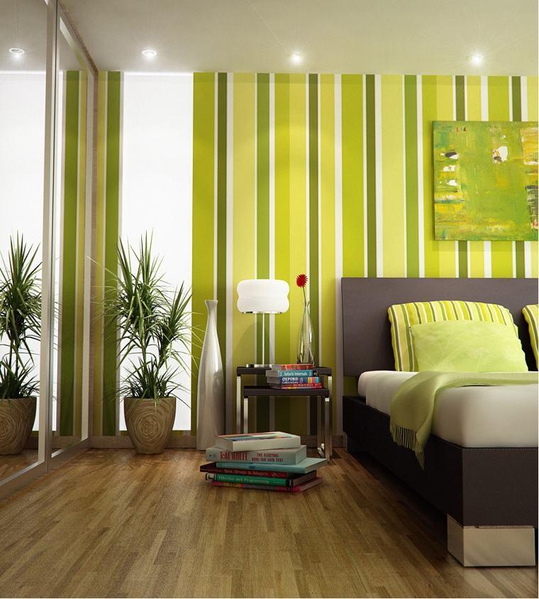 colores-de-moda-opcion-dormitorio-verde-rayas-verticales