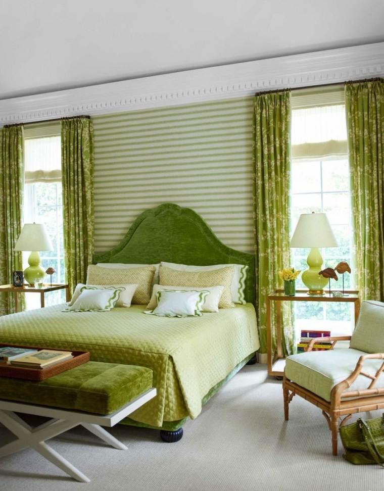 colores-de-moda-opcion-dormitorio-verde-rayas